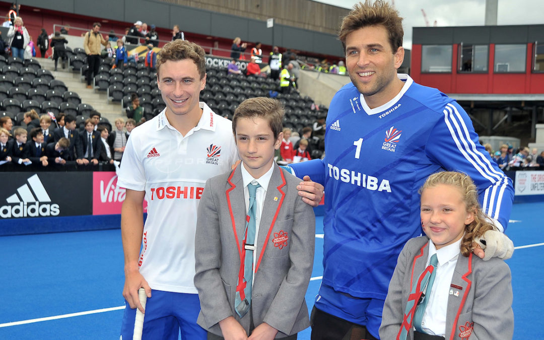 Year 8 pupils interview GB Hockey stars