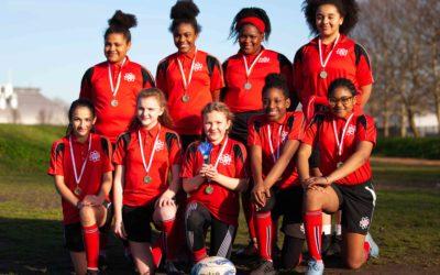 Girls rugby winners