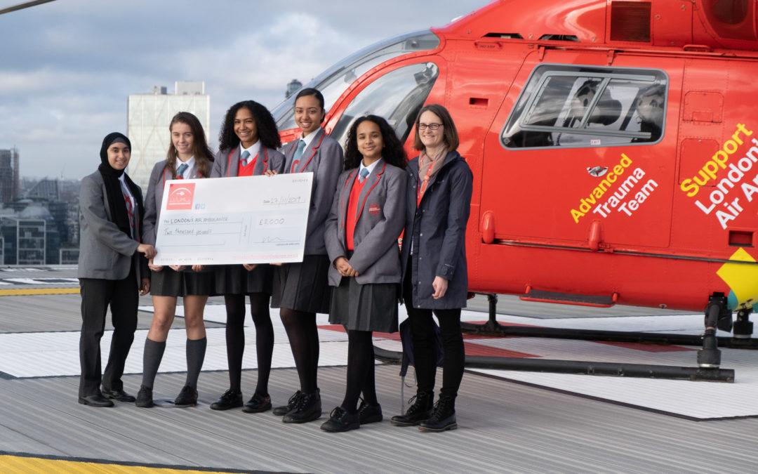 Pupils go sky high for London's Air Ambulance